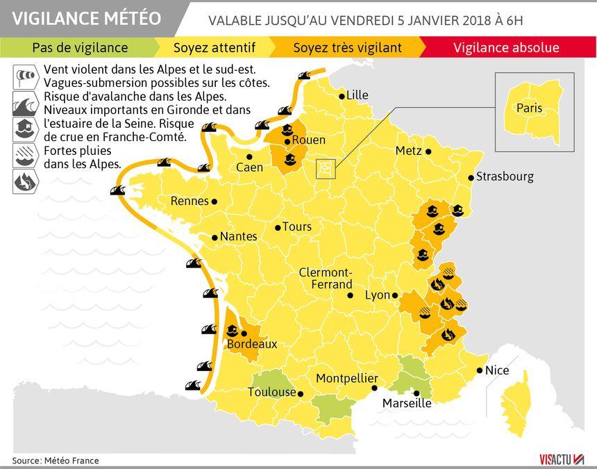 La vigilance orange est maintenue ce jeudi en Isère, Savoie et Haute-Savoie notamment.