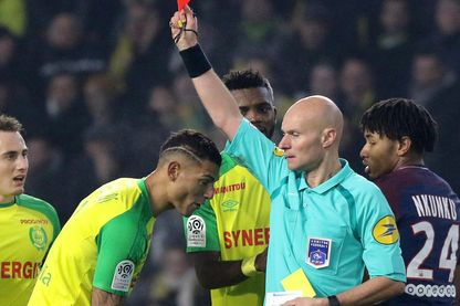 L'arbitre Tony Chapron, le 14 January 2018, Nantes.