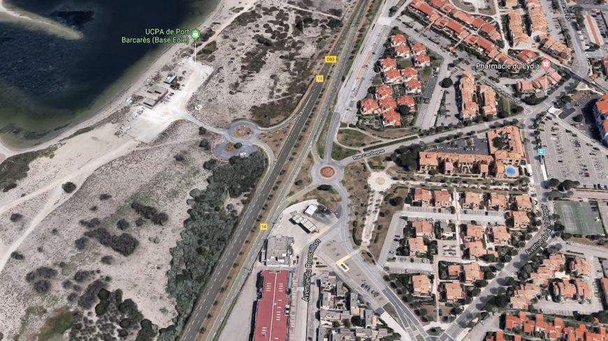 L'accident s'est produit sur la commune du Barcarès, au début de la voie rapide vers Rivesaltes.