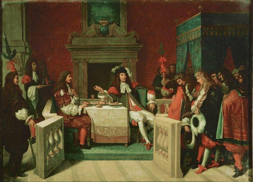 Esquisse pour le tableau le Déjeuner de Molière, qui fut détruit en 1871 au palais des Tuileries par  Jean Auguste Dominique Ingres