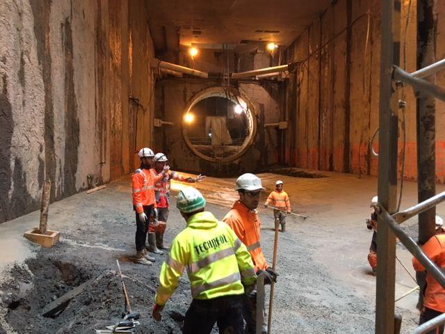 L'arrivée Est du tunnel