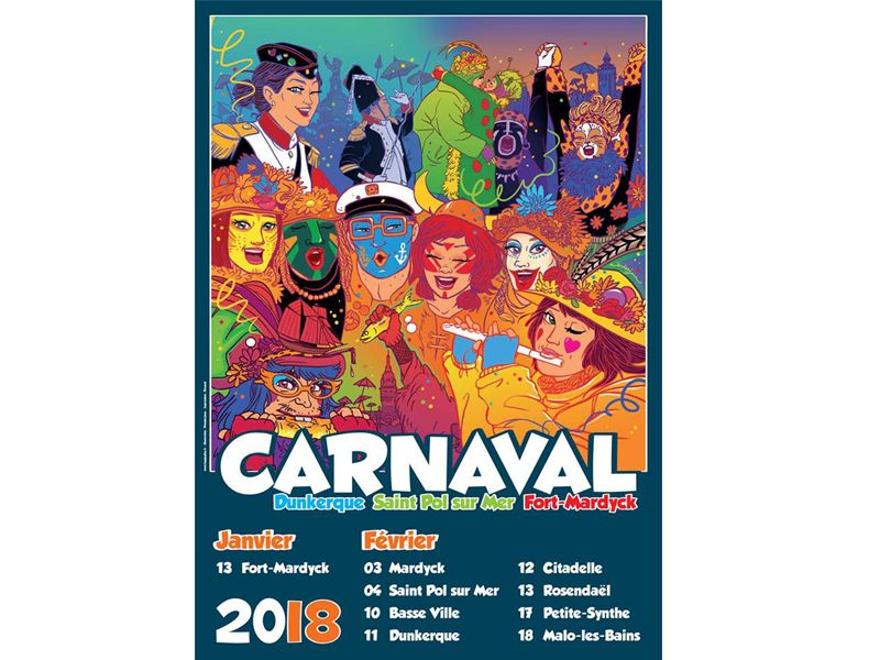 affiche du Carnaval de Dunkerque 2018