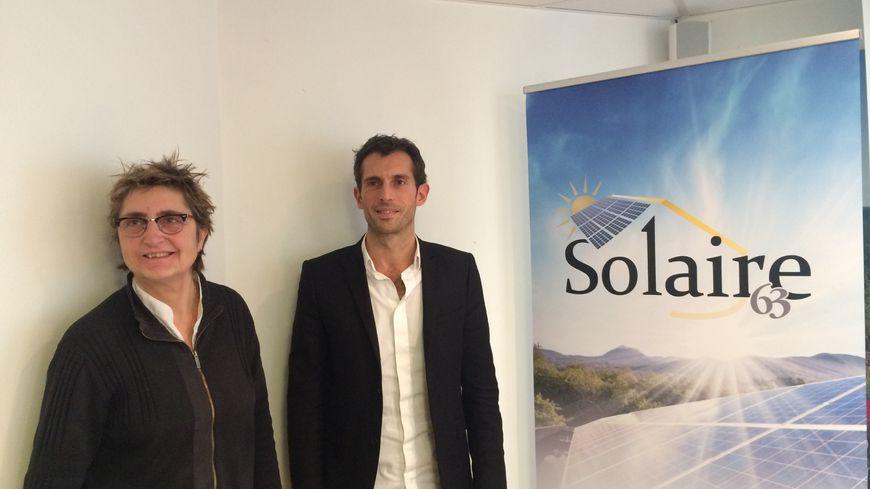 Dominique giron, Vice-Présidente au conseil départemental en charge de la Transition Energétique et David Callegari, co-fondateur de l'entreprise In Sun We Trust