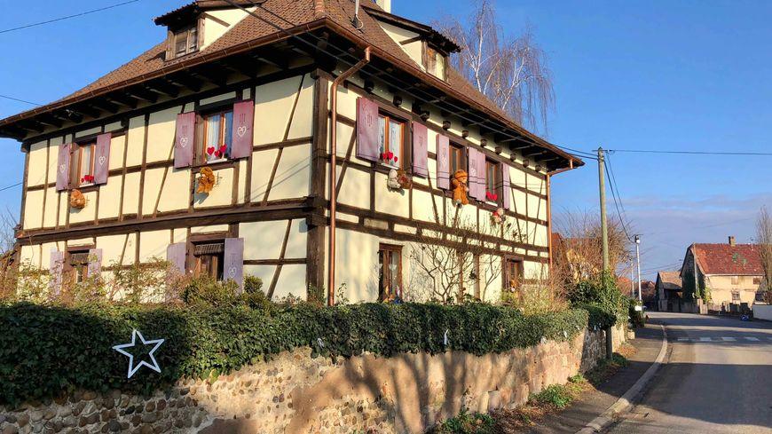 Saasenheim, colombages de Noel