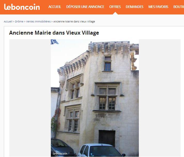 Capture d'écran du site internet Leboncoin.