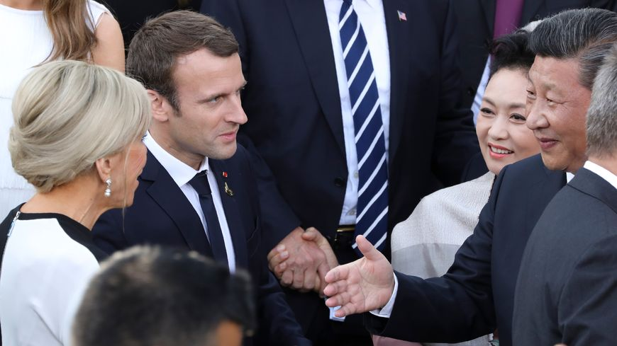 Emmanuel Macron et le président chinois Xi Jinping à Hambourg le 8 juillet dernier
