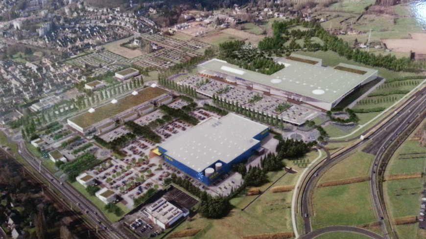 Le permis de construire du futur magasin Ikéa a été signé en septembre 2017 par la maire d'Yvré-l'Evêque