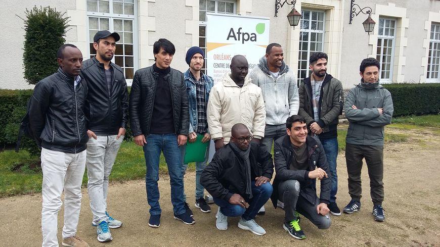 Les 11 réfugiés accueillis à l'Afpa d'Olivet dans le cadre du programme Hope