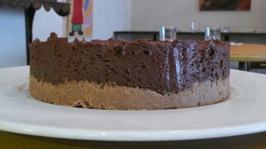 Un succulent gâteau au chocolat à base de Gavottes, délicieux.