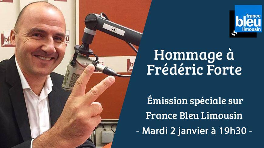 Frédéric Forte lors de son dernier passage dans les studios de France Bleu Limousin à Limoges, le 21 septembre 2017