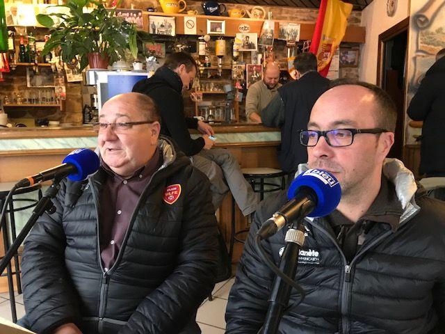 Antonio Da Costa et Marc Felgueiras de L'ULFE au Café des Bourrus