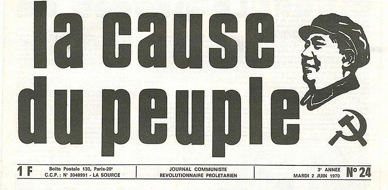 """La manchette du journal """"La Cause du peuple"""" en 1970."""
