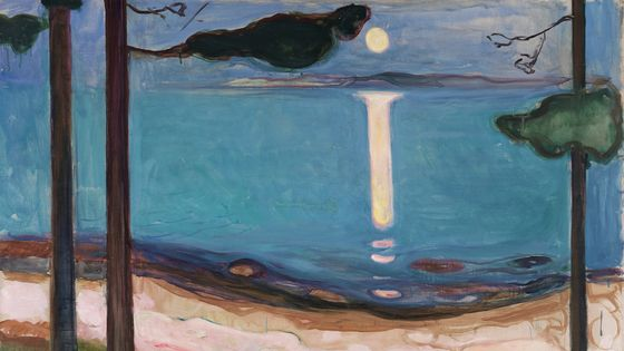 Edvard Munch, Clair de lune (détail)