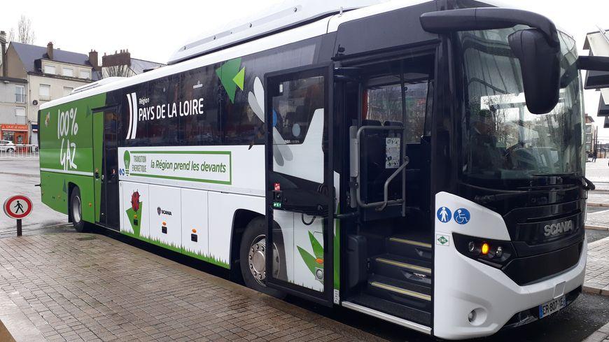 Un seul bus roulant au gaz naturel sillonne pour l'instant les routes sarthoises mais ils pourraient à terme remplacer les cars diesel si l'expérience est concluante