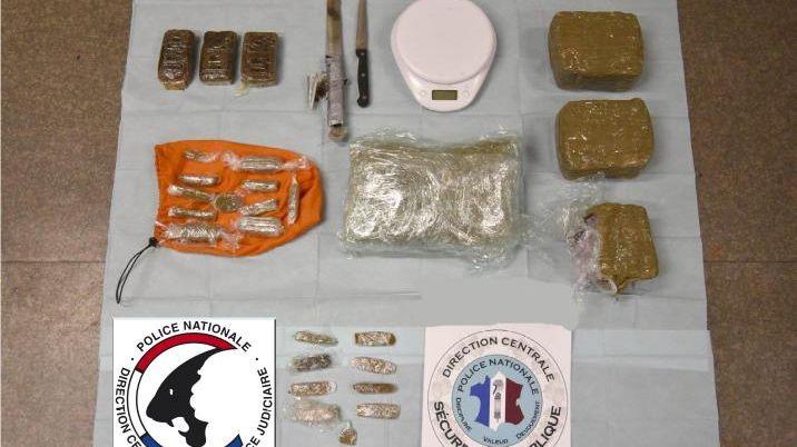 1,7 kilo de résine de cannabis et 300 grammes d'herbe ont été saisis lors des interpellations des 10 suspects