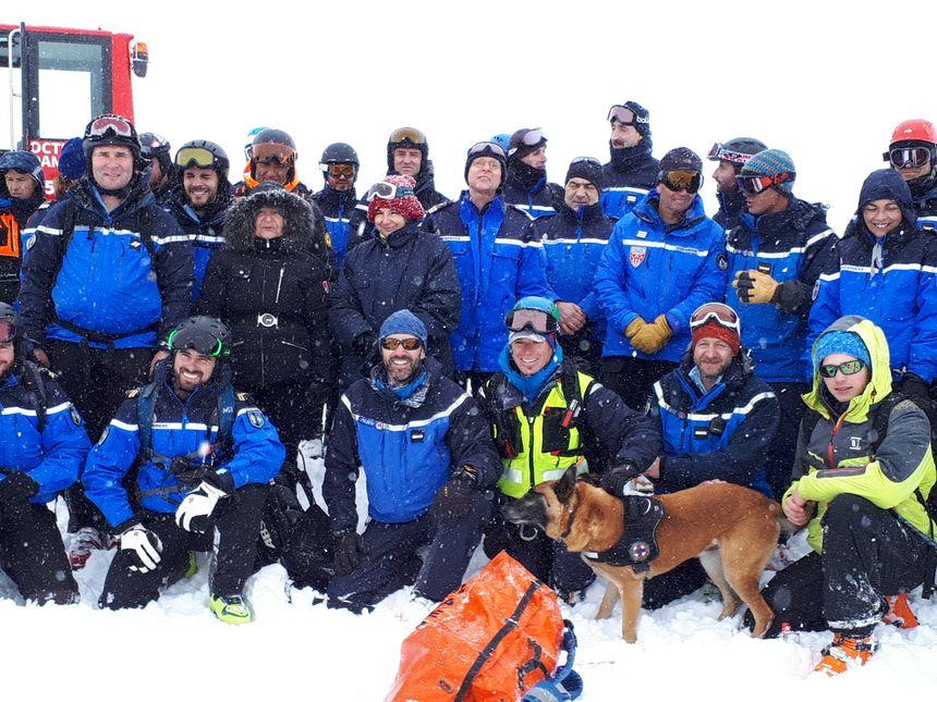 Les équipes de secours en montagne s'entrainent régulièrement