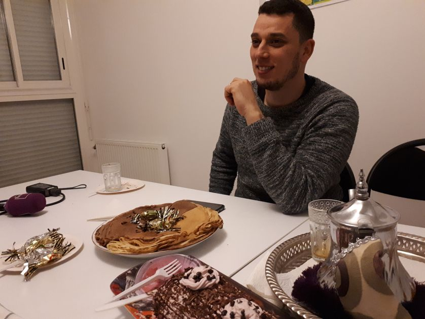 Rhany Slimane, militant France insoumise à La Paillade à Montpellier