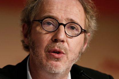 """Arnaud Desplechin au Festival de Cannes en mai 2017 pour la présentation ses """"Fantomes d'Ismael"""""""