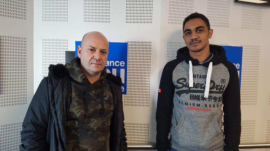 Thierry et Yoan, l'un des deux couples binationaux ayant fui la Tunisie avant d'être arrêtés pour homosexualité.