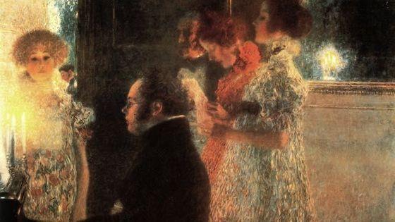 Schubert au piano de Gustav Klimt (Toile détruite en 1945)