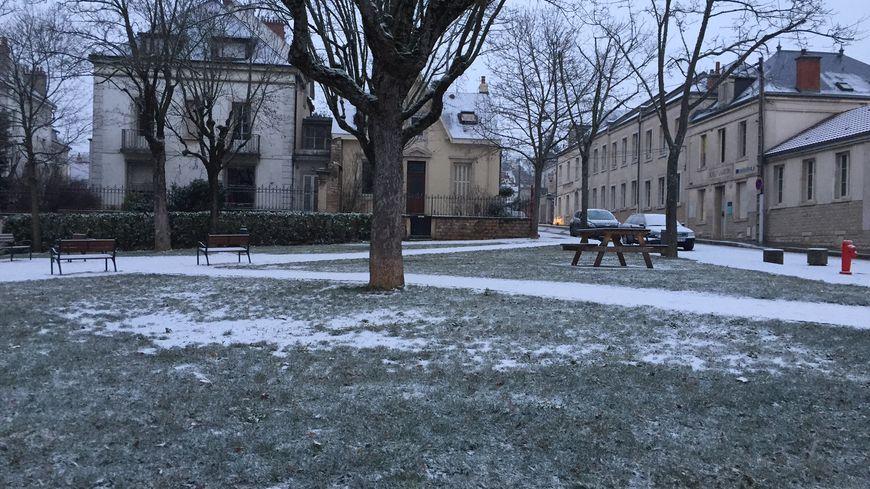 La neige dans le quartier Montchapet (photo d'illustration)
