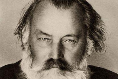 Johannes Brahms (1833-1897) compositeur allemand. D'après une photographie prise la dernière année de sa vie.