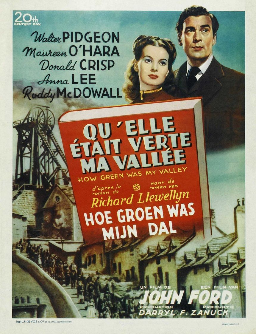 """affiche du film """"Qu'elle était verte ma vallée"""" de John Ford"""
