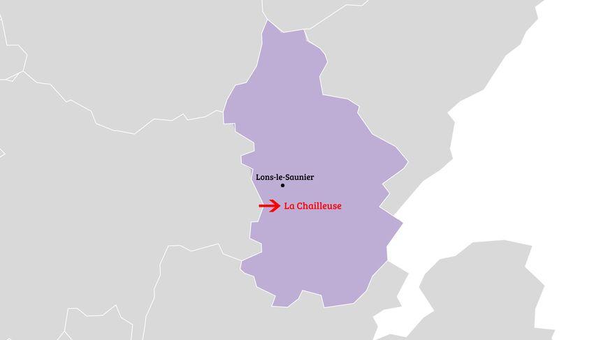 L'avion s'est écrasé sur la commune de La Chailleuse dans le Jura, au sud de Lons-le-Saunier.