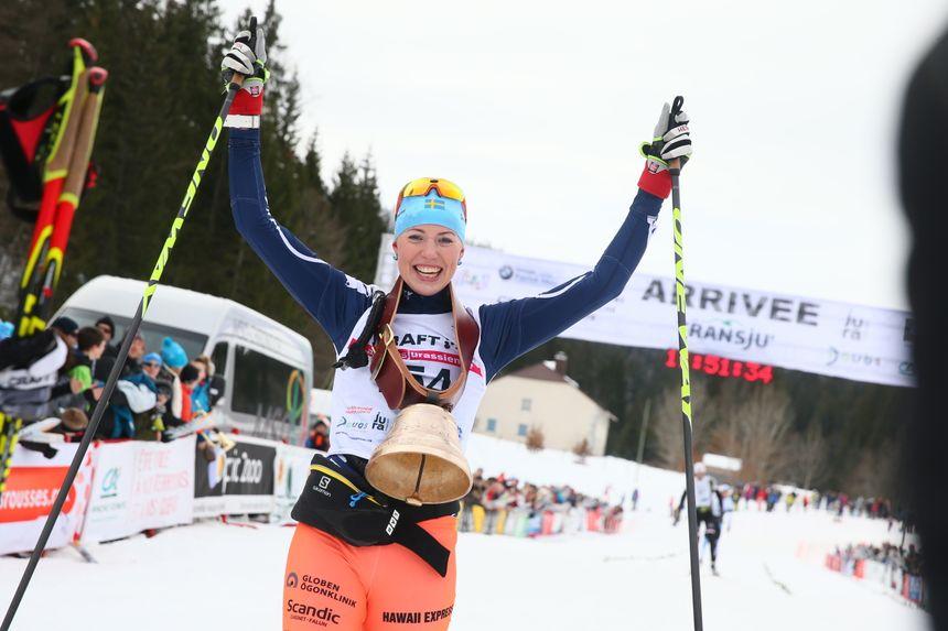 La Suédoise Maria Gräfnings, la gagante de la Transju 2017 chez les Dames