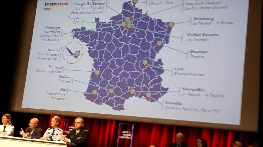 Gérard Collomb a dévoilé jeudi après-midi à Paris la carte des villes et quartiers retenus