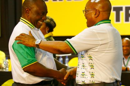 Cyril Ramaphosa et Jacob Zuma