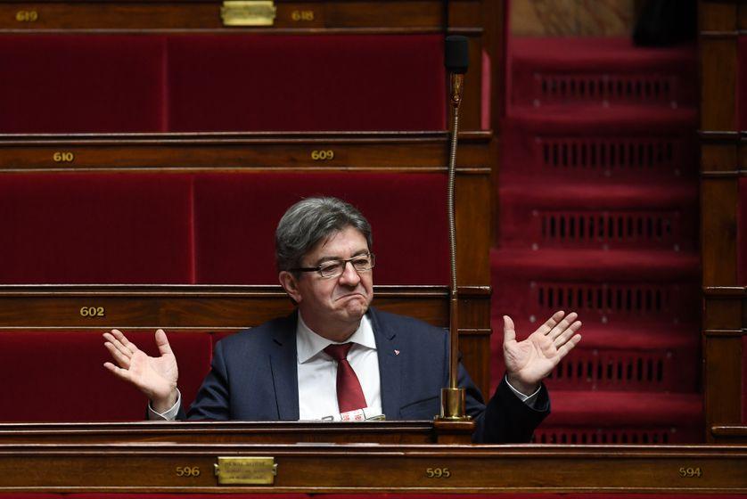 Jean-Mélenchon à l'Assemblée nationale le 31 janvier 2018.