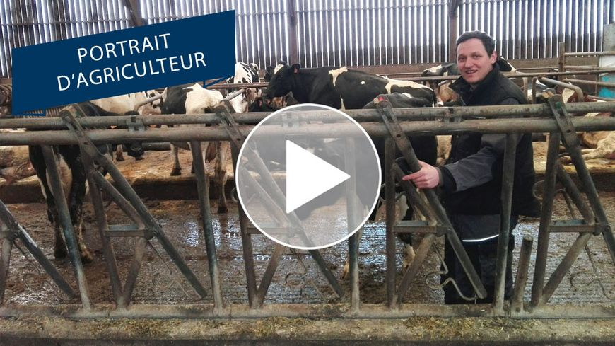 Julien Lepeltier, éleveur à Domfront-en-Champagne