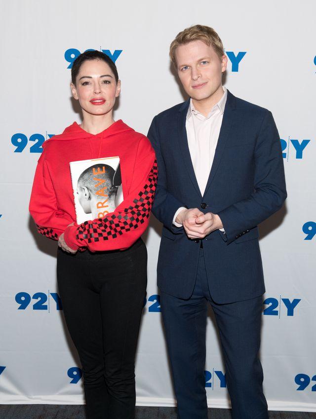 Rose McGowan et Ronan Farrow à New York en février 2018