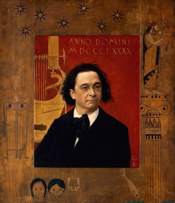 Portrait de Joseph Pembaur, pianiste et compositeur, 1890.