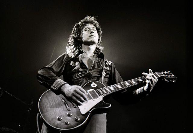 Jimmy Page avec une Gibson Les Paul en 1972