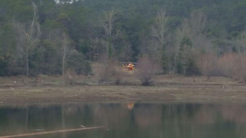 C'est dans une zone boisée que l'un des hélicoptères s'est écrasé