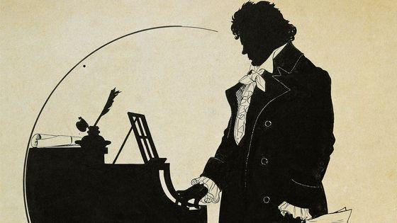 Silhouette de Beethoven au piano (par Schlipmann)