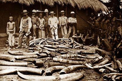 Chasseurs d'ivoire dans le Congo belge (vers 1900)
