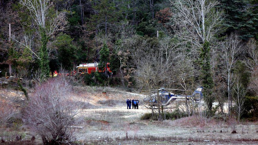 Les secours sur les lieux de l'accident.