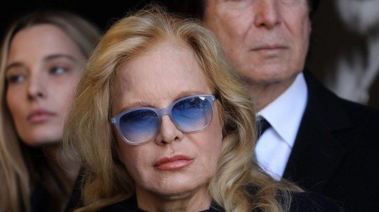 Sylvie Vartan lors des funérailles de Johnny Hallyday