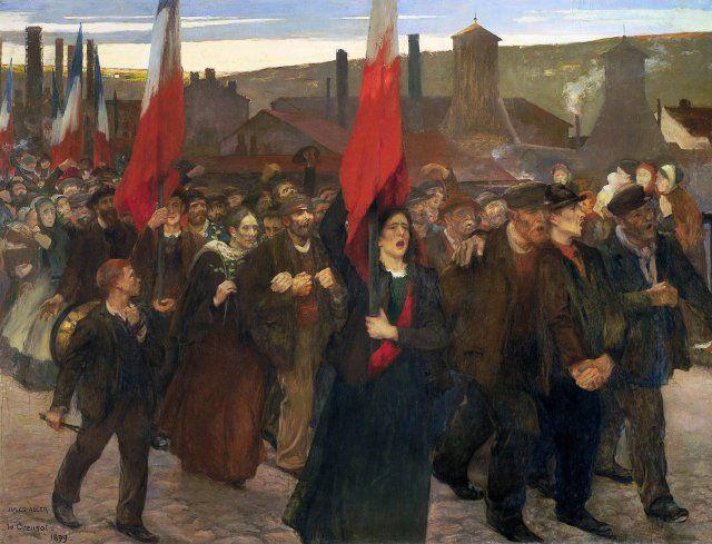 La grève au Creusot 1899
