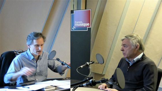 """France Musique, studio 152... Philippe Venturini & Étienne Barilier """"Exil et musique"""" Éditions Fayard"""
