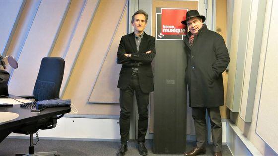France Musique, studio 152... Philippe Venturini & Philippe Cassard (de g. à d.)