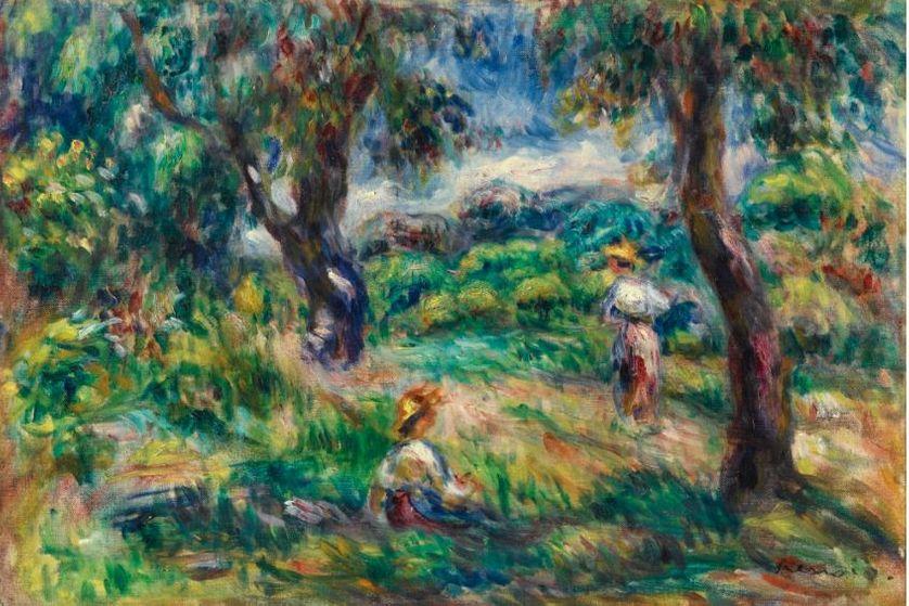 Paysage bleu - Chez Larbaud, les paysage et leur description colorée et leurs contours estompés, ont une importance particulière.