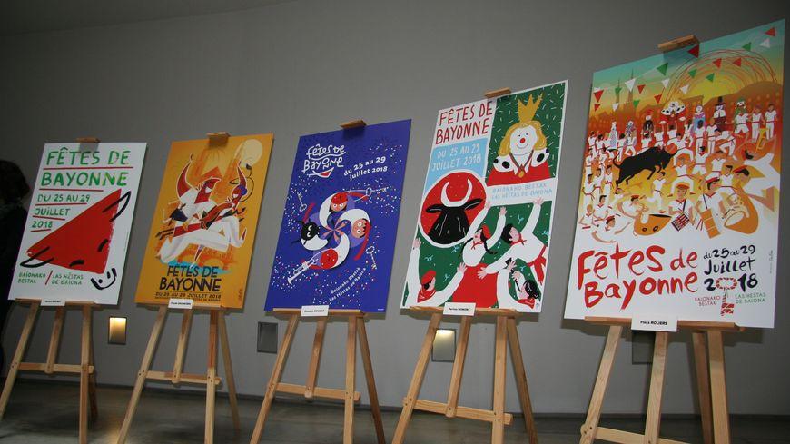 Les 5 affiches finalistes des Fêtes de Bayonne 2018
