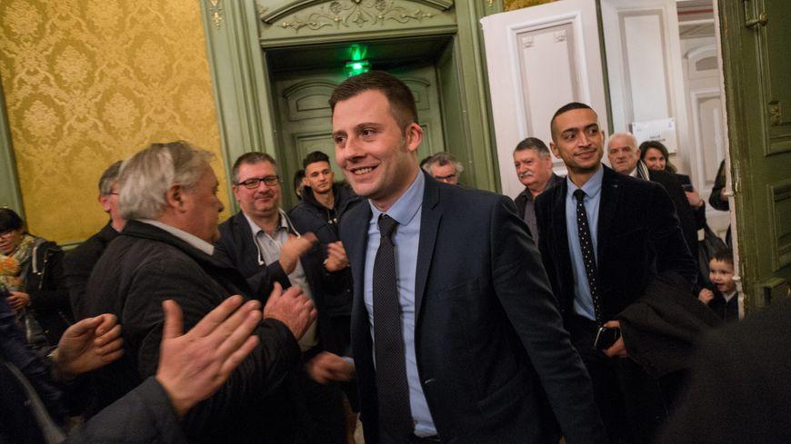 Ian Boucard à l'issue du premier tour à l'hôtel de ville de Belfort