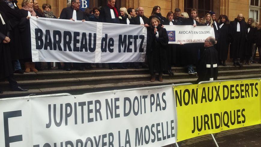 Avocats et magistrats mobilisés lundi 12 février devant le Palais de justice de Metz