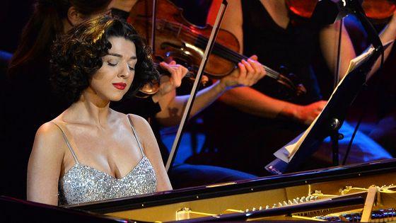 Khatia Buniatishvili au 21ème Victoires de la Musique Classique, le 3 février 2014, à Aix-en-Provence.
