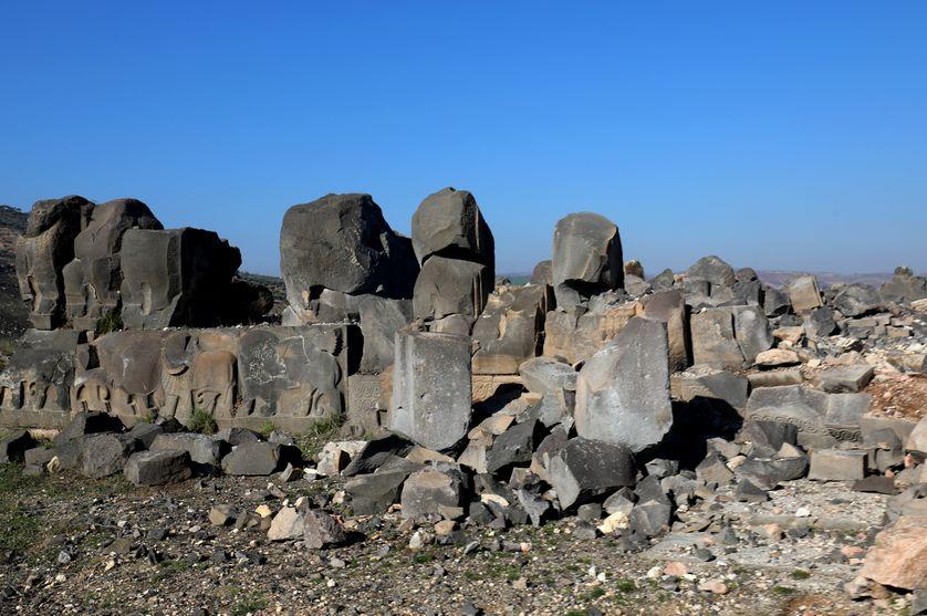 Le temple néo-hittite d'Ain Dara, détruit par l'aviation turque